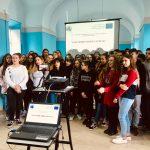 Alumnos Erasmus cantando en Anagni