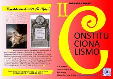 Díptico portada II Jornadas sobre constitucionalismo