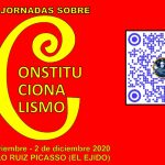Logotipo de las II Jornadas sobre constitucionalismo y código QR de la página web del centro