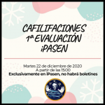 Calificaciones 1ª evaluación curso 20-21