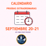 CALENDARIO PRUEBAS EXTRAORDINARIAS CURSO 20-21